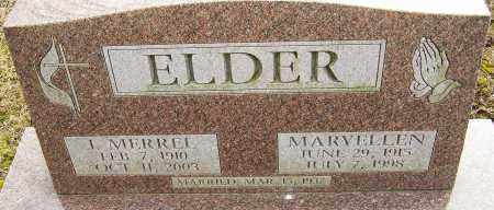ELDER, MARYELLEN - Franklin County, Ohio | MARYELLEN ELDER - Ohio Gravestone Photos