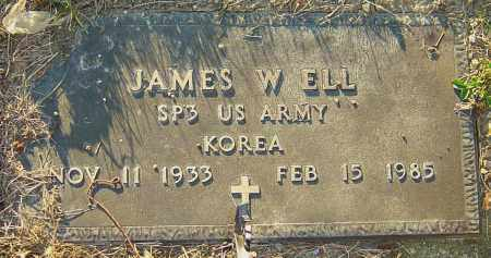 ELL, JAMES W - Franklin County, Ohio | JAMES W ELL - Ohio Gravestone Photos
