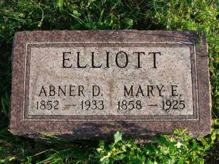 ELLIOTT, ABNER D. - Franklin County, Ohio | ABNER D. ELLIOTT - Ohio Gravestone Photos