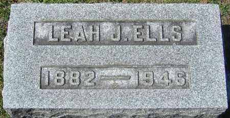 ELLS, LEAH JESSIE - Franklin County, Ohio | LEAH JESSIE ELLS - Ohio Gravestone Photos