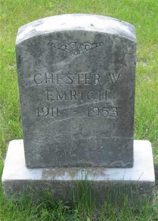 EMRICH, CHESTER W. - Franklin County, Ohio   CHESTER W. EMRICH - Ohio Gravestone Photos