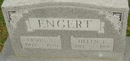 ENGERT, ERWIN A - Franklin County, Ohio | ERWIN A ENGERT - Ohio Gravestone Photos