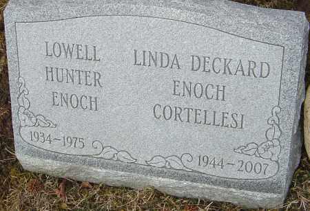 ENOCH, LOWELL HUNTER - Franklin County, Ohio | LOWELL HUNTER ENOCH - Ohio Gravestone Photos