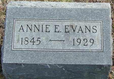 EVANS, ANNIE E - Franklin County, Ohio | ANNIE E EVANS - Ohio Gravestone Photos