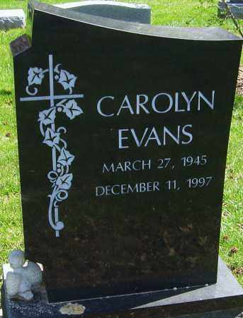 EVANS, CAROLYN - Franklin County, Ohio | CAROLYN EVANS - Ohio Gravestone Photos