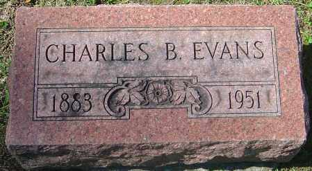 EVANS, CHARLES B - Franklin County, Ohio | CHARLES B EVANS - Ohio Gravestone Photos