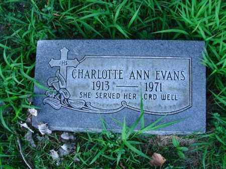 EVANS, CHARLOTTE ANN - Franklin County, Ohio | CHARLOTTE ANN EVANS - Ohio Gravestone Photos
