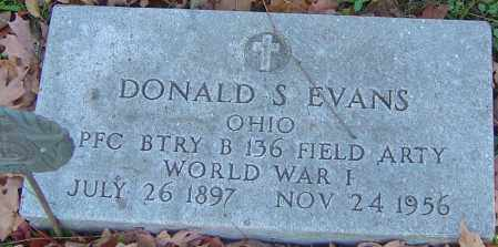 EVANS, DONALD S - Franklin County, Ohio | DONALD S EVANS - Ohio Gravestone Photos