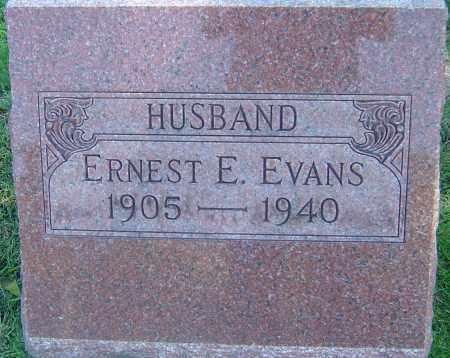 EVANS, ERNEST E - Franklin County, Ohio | ERNEST E EVANS - Ohio Gravestone Photos