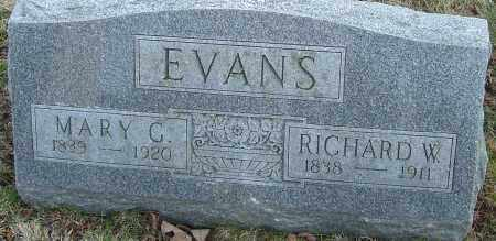 EVANS, RICHARD W - Franklin County, Ohio | RICHARD W EVANS - Ohio Gravestone Photos
