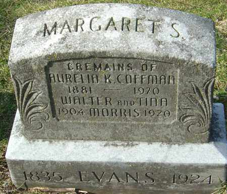 EVANS, MARGARET S - Franklin County, Ohio | MARGARET S EVANS - Ohio Gravestone Photos