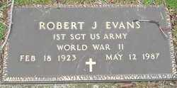 EVANS SR., ROBERT J - Franklin County, Ohio | ROBERT J EVANS SR. - Ohio Gravestone Photos