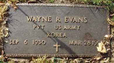 EVANS, WAYNE R. - Franklin County, Ohio | WAYNE R. EVANS - Ohio Gravestone Photos