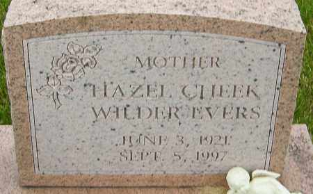 WILDER EVERS, HAZEL - Franklin County, Ohio | HAZEL WILDER EVERS - Ohio Gravestone Photos
