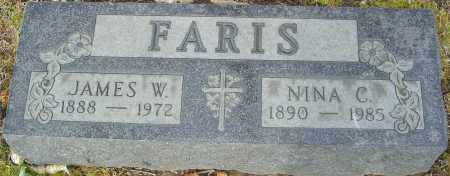 FARIS, JAMES W - Franklin County, Ohio | JAMES W FARIS - Ohio Gravestone Photos