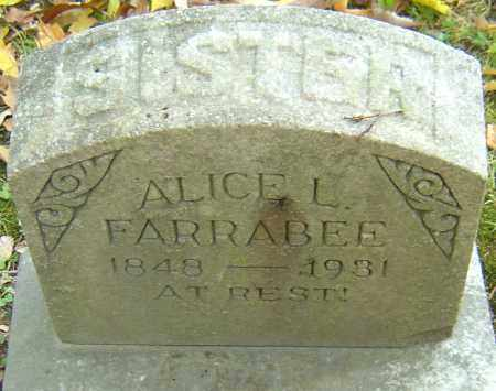 FARRABEE, ALICE L - Franklin County, Ohio | ALICE L FARRABEE - Ohio Gravestone Photos