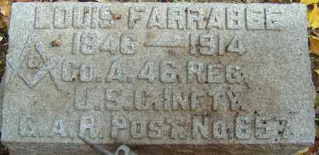 FARRABEE, LOUIS - Franklin County, Ohio   LOUIS FARRABEE - Ohio Gravestone Photos