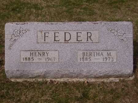 FEDER, HENRY - Franklin County, Ohio | HENRY FEDER - Ohio Gravestone Photos