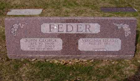 FEDER, VIRGINIA - Franklin County, Ohio | VIRGINIA FEDER - Ohio Gravestone Photos