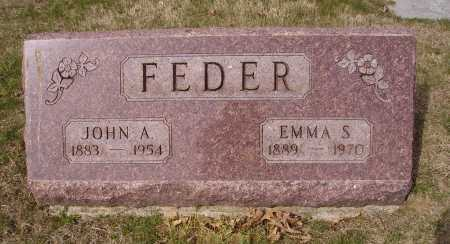 FEDER, EMMA S. - Franklin County, Ohio | EMMA S. FEDER - Ohio Gravestone Photos
