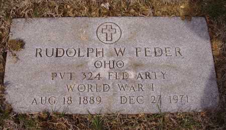 FEDER, RUDOLPH W. - MILITARY - Franklin County, Ohio | RUDOLPH W. - MILITARY FEDER - Ohio Gravestone Photos
