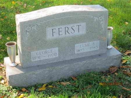 FERST, ELSIE B - Franklin County, Ohio | ELSIE B FERST - Ohio Gravestone Photos