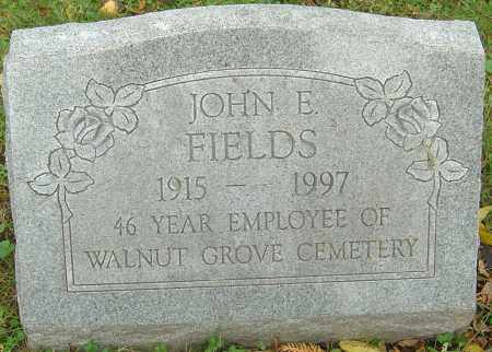 FIELDS, JOHN E - Franklin County, Ohio | JOHN E FIELDS - Ohio Gravestone Photos