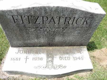 FITZPATRICK, JOHN E. - Franklin County, Ohio | JOHN E. FITZPATRICK - Ohio Gravestone Photos