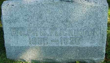 FLICKINGER, RALPH M - Franklin County, Ohio | RALPH M FLICKINGER - Ohio Gravestone Photos