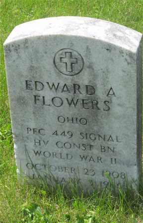 FLOWERS, EDWARD A. - Franklin County, Ohio | EDWARD A. FLOWERS - Ohio Gravestone Photos
