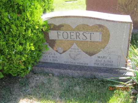 FOERST, MARY L - Franklin County, Ohio | MARY L FOERST - Ohio Gravestone Photos