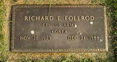FOLLROD, RICHARD E. - Franklin County, Ohio | RICHARD E. FOLLROD - Ohio Gravestone Photos