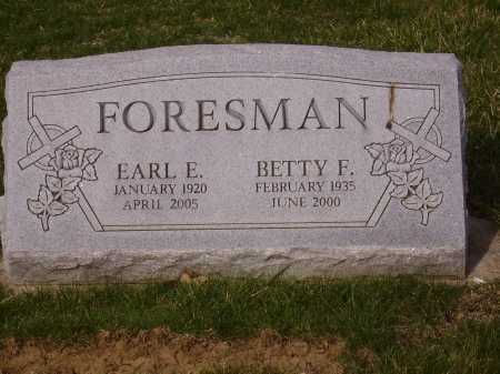 FORESMAN, BETTY F. - Franklin County, Ohio | BETTY F. FORESMAN - Ohio Gravestone Photos