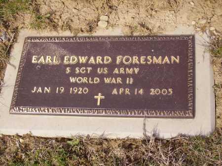 FORESMAN, EARL EDWARD - Franklin County, Ohio | EARL EDWARD FORESMAN - Ohio Gravestone Photos