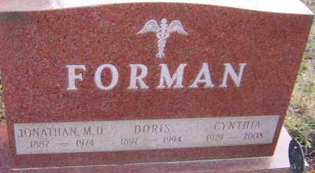 FORMAN, CYNTHIA - Franklin County, Ohio | CYNTHIA FORMAN - Ohio Gravestone Photos