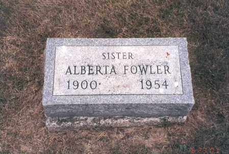 FOWLER, ALBERTA - Franklin County, Ohio | ALBERTA FOWLER - Ohio Gravestone Photos