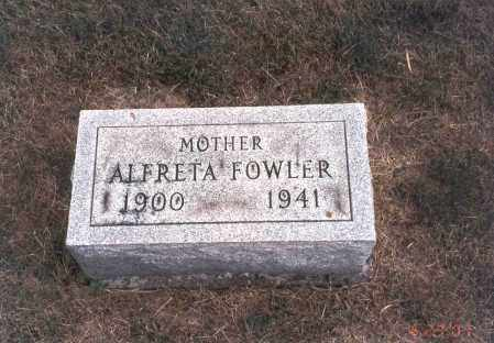 FOWLER, ALFRETA - Franklin County, Ohio | ALFRETA FOWLER - Ohio Gravestone Photos