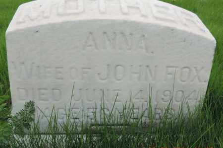 FOX, ANNA - Franklin County, Ohio   ANNA FOX - Ohio Gravestone Photos