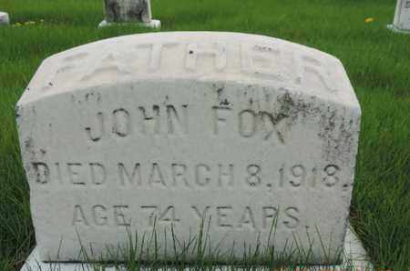 FOX, JOHN - Franklin County, Ohio | JOHN FOX - Ohio Gravestone Photos