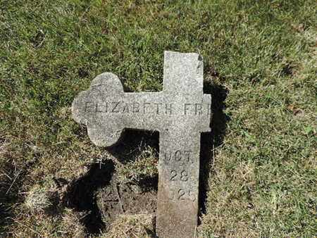 FR,,,, ELIZABETH - Franklin County, Ohio | ELIZABETH FR,,, - Ohio Gravestone Photos