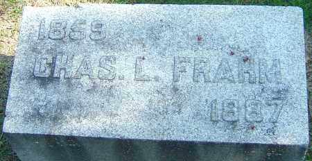 FRAHM, CHAS L - Franklin County, Ohio | CHAS L FRAHM - Ohio Gravestone Photos