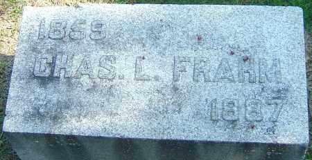 FRAHM, CHAS L - Franklin County, Ohio | CHAS L FRAHM - Ohio Gravestone Photos