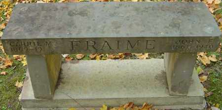 MALLORY FRAIME, CARRIE M - Franklin County, Ohio | CARRIE M MALLORY FRAIME - Ohio Gravestone Photos