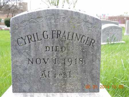 FRALINGER, CYRIL G - Franklin County, Ohio | CYRIL G FRALINGER - Ohio Gravestone Photos