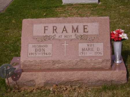 FRAME, MARIE D. - Franklin County, Ohio | MARIE D. FRAME - Ohio Gravestone Photos
