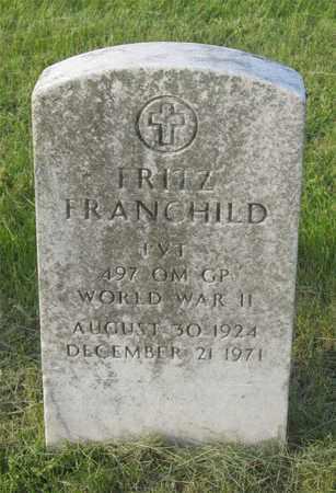 FRANCHILD, FRITZ - Franklin County, Ohio | FRITZ FRANCHILD - Ohio Gravestone Photos