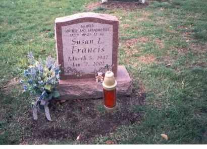 FRANCIS, SUSAN L. - Franklin County, Ohio | SUSAN L. FRANCIS - Ohio Gravestone Photos