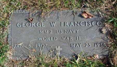 FRANCISCO, GEORGE W. - Franklin County, Ohio | GEORGE W. FRANCISCO - Ohio Gravestone Photos