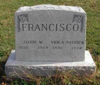 FRANCISCO, JOHN W. - Franklin County, Ohio | JOHN W. FRANCISCO - Ohio Gravestone Photos