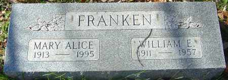 FRANKEN, WILLIAM ELMER - Franklin County, Ohio | WILLIAM ELMER FRANKEN - Ohio Gravestone Photos